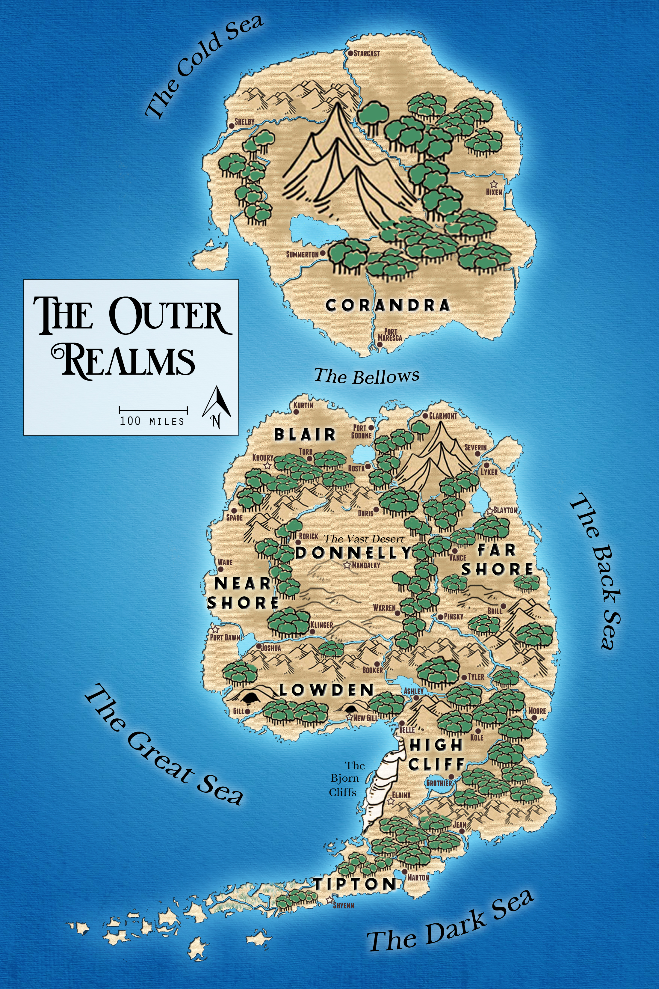 Map of the Outer Realms